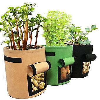 Tejidos no tejidos para cultivar plantas y bolsas de plantación de verduras, cubos de plantación de jardines