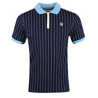 FILA BB1 Classic Striped Polo - Peacoat/Air Blue