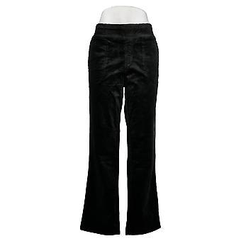 Denim & Co. Women's Pants Stretch Corduroy Black A369917