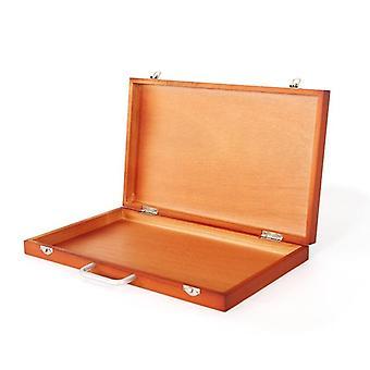 קופסת ציור גדולה, שולחן אמן משובח, ציור נייד מעץ