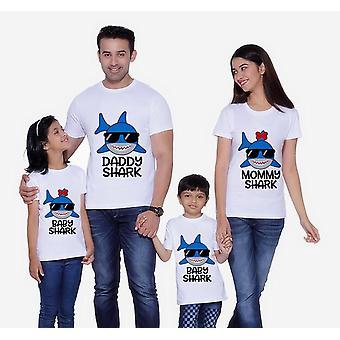 Shark T-shirt, Familie de potrivire Haine, Tata cu maneca scurta T-shirt