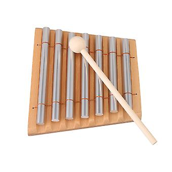7 Aluminum Tube Woodstock Percussion Instrument 7 Tone Chime with Mallet