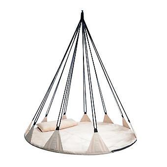 Mega Hangstoel Schommel 150 cm met kussen - 10 touwen