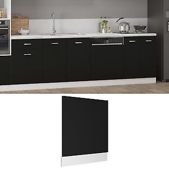 vidaXL dishwasher hood Black 59.5x3x67 cm chipboard