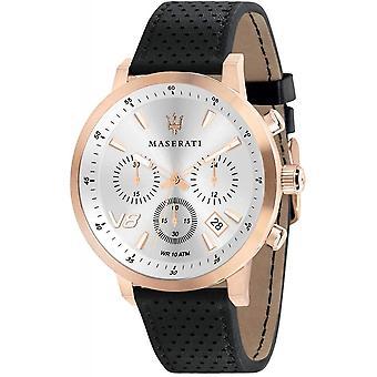 Maserati R8871134001 Men's Black Strap Granturismo Wristwatch