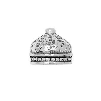 Final Sale - Nunn Design Cord End, Tassel Top Ornate 10mm, 1 Piece, Antiqued Silver