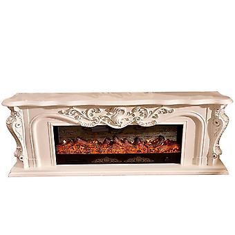 温まる暖炉の木製マンテルは、リビングルームの装飾のために導かれました
