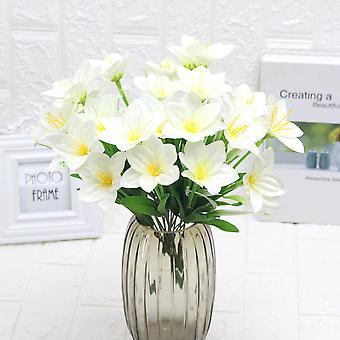 5pcs flores artificiales agua cuentas orquídeas flor seca falsa flor regalo para las mujeres