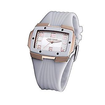 Time Force Analog Quartz Watch Woman with Rubber Strap TF3135L11