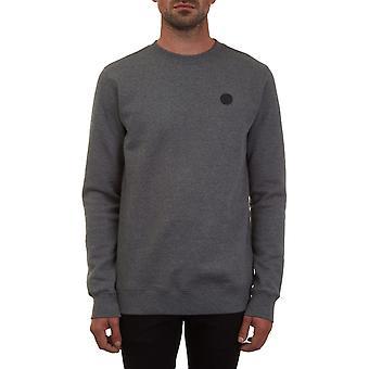 Volcom single Stone crew Sweatshirt in donkergrijs