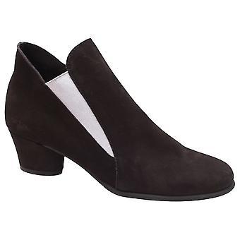 Arche Black Nubuck Leather Low Heel Shoe Boot