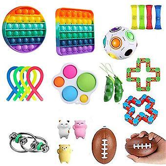 Sensorische Fidget Toys Set Bubble Pop Stress Relief voor kinderen Volwassenen Z450