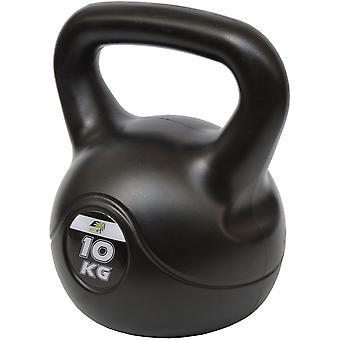 Kettlebell 10 kg Composiet – Fitness gewicht – Zwart