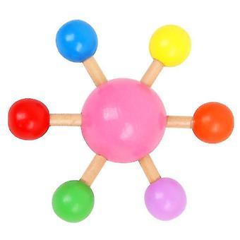 אצבע ורודה למעלה צבעוני מסתובב העליון עץ כיף פנאי לחץ צעצוע x5104