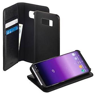 Livret Hama «2in1» pour Samsung Galaxy S8 +, noir / noir