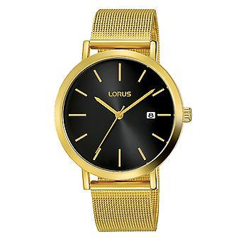 Lorus RH942JX9 Mens Mesh Bracelet Watch with Sunray Black Dial