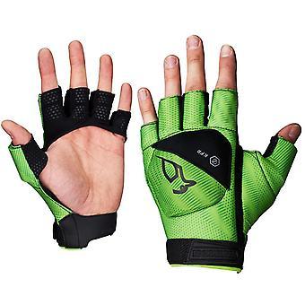 Kookaburra Xenon 1/2 Finger Hand Guard Schwarz/Lime große LH