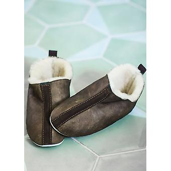 Shepherd Ladies Suede Sole Sheepskin Bootee Slippers
