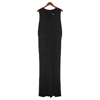 IMAN Global Chic Jumpsuits Sleeveless With Hidden Buttons Black 689720