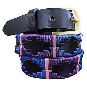 Carlos diaz Premium braun Leder bestickt Designer dünne Gaucho Polo Gürtel awo27717