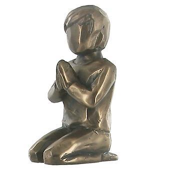 Praying Boy Cold Cast Bronze Sculpture 7cm