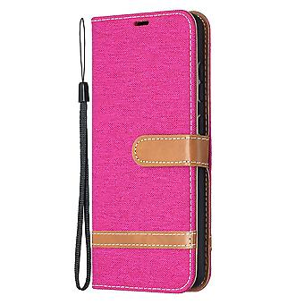 Folio Flip Cover Leather Case For Samsung Galaxy A52 4g/5g Rose Jeans