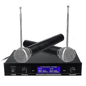 Profesionální duální ruční VHF bezdrátový mikrofonní systém akumulátorový karaoke reproduktor s B