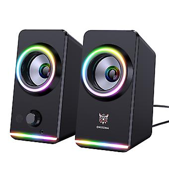 Computer Speakers With Rgb Light Gaming Speakers For Pc/laptops/desktops/phone/ipad