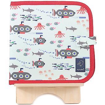Kreidemalbuch inkl. 4 Kreiden, Motiv U-Boot, abwischbares Malbuch für Kinder