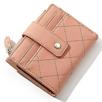 Ultra-thin multi-card slot pu card holder simple short ladies coin purse(Color-1)