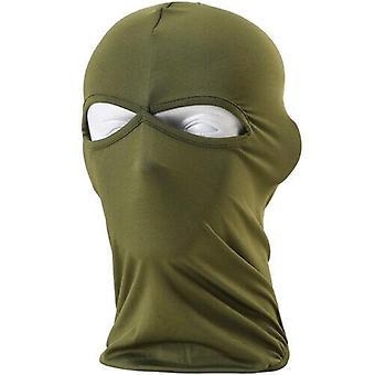 (Armee Grün) Sturmhaube Helm Winter Sas Style Army Winddichter Hals Warm Vollgesichtsmaske
