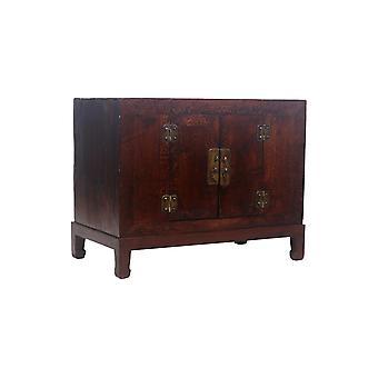 Fint asiatisk levende antikk kinesisk skap brunt mønster - Shanxi, Kina
