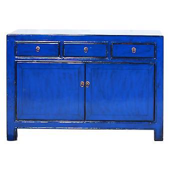 Fine Asianliving Antikke kinesiske Skænk Navy Blue Blank W130xD39xH91cm