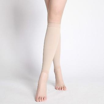 1 Pair compression leg sleeve relieve varicose veins circulation compression slimming stovepipe sport legwarmers women knee pads