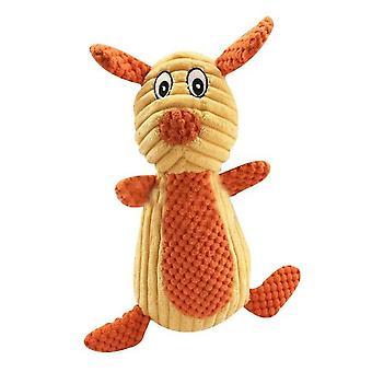 Puremankestävä söpö eläin pehma ääni lelu (keltainen)