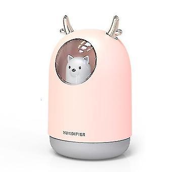 High quality 300ml pet ultrasonic usb air humidifier timing aroma light|humidifiers #4608