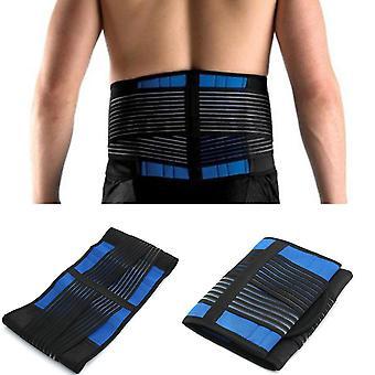 Neoprene lower back support belt compression brace pull lumbar