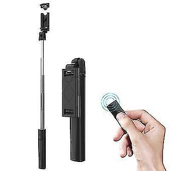3 в 1 Складной беспроводной Bluetooth Selfie Stick Расширяемый портативный монопод (черный)