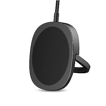 15W Magnetic Magsafe Wireless Charger Stand Pad For iPhone 12 12 Pro Max 12 Mini(Black)