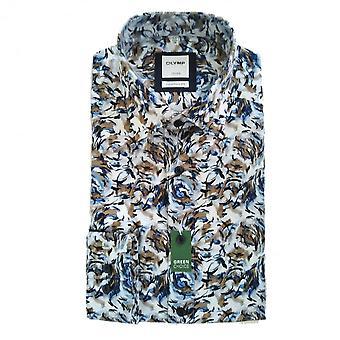 OLYMP Olymp Blue Shirt 1062 84 28