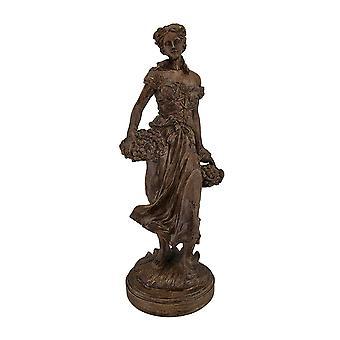 البكر الحصاد الطازج يحمل التمثال مظهر الخشب ريفي سلال