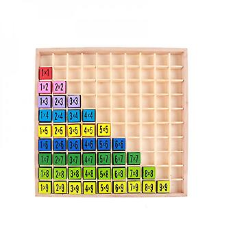Children's Educational Wooden Toy Multiplication Table Math School Arithmetic