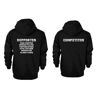 Supporter og konkurrent søde par hættetrøjer sjove matchende Outfit