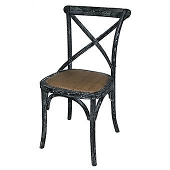 Lucy Retro Vintage Style Black Wooden Dining Kitchen Chair Fully Assembled