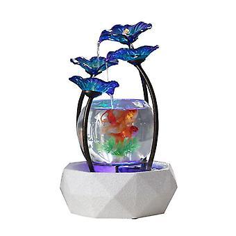 GlasFischbecken für Wohnzimmer Kreative Keramik Wasser springbrunnen Luftbefeuchter Home TV Schrank Schreibtisch