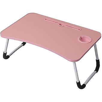 Folding tables foldable laptop bed table breakfast tray pink