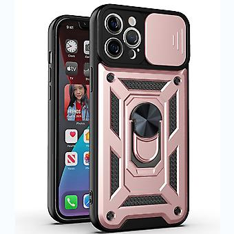 Suitable For Iphone 13 Pro  Metal Frame Mobile Phone Case Frosted Transparent Pc All-inclusive Protective Cover