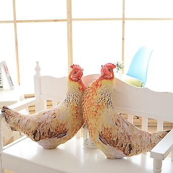 Creative Simulation Old Hen Plush Toy Pillow, Native Chicken Office Lunch Break Pillow Pillow, Rooster Mascot
