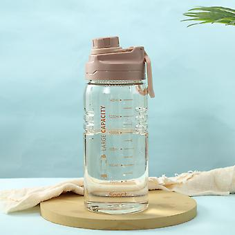 Gjennomsiktig plastflaske med stor kapasitet / 1500 ml / grønn