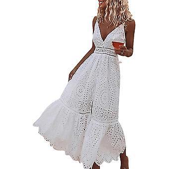 Naisten mekko V Kaula spagettihihna Mekko 4-6